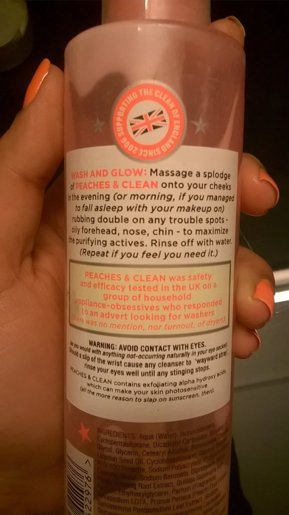 Soap & Glory Peaches Clean | mitzitup.com