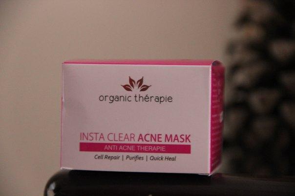Organic Therapie Insta Clear Acne Mask | mitzitup.com
