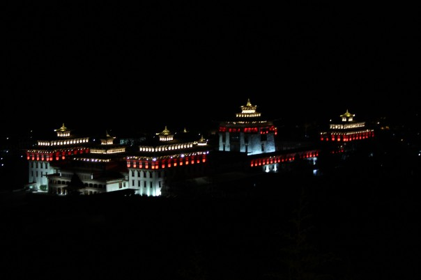 Thimphu Dzong at Night | mitzitup.com