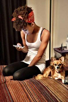 Curly girls rock scarfs better | mitzitup.com