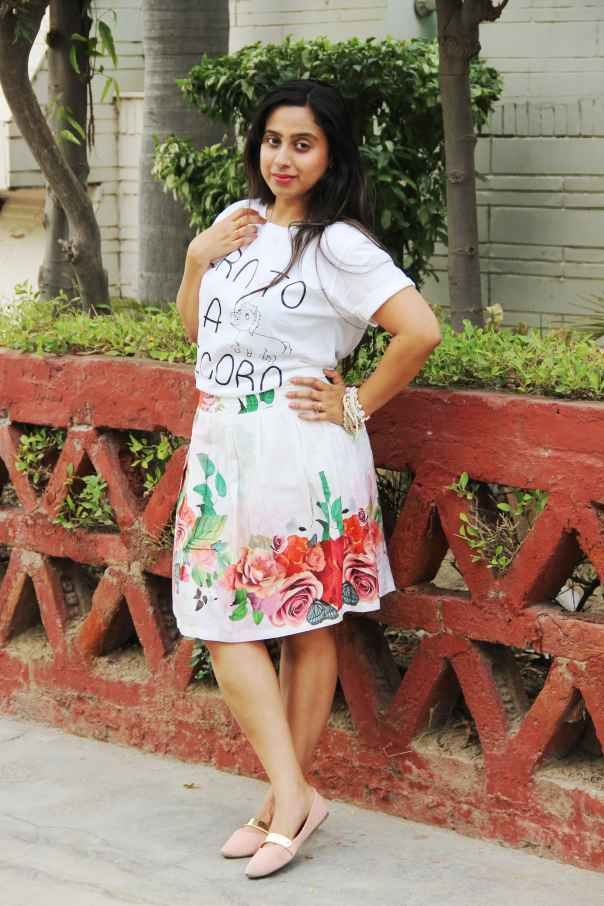 Unicorn Tee with A-line skirt | mitzitup.com