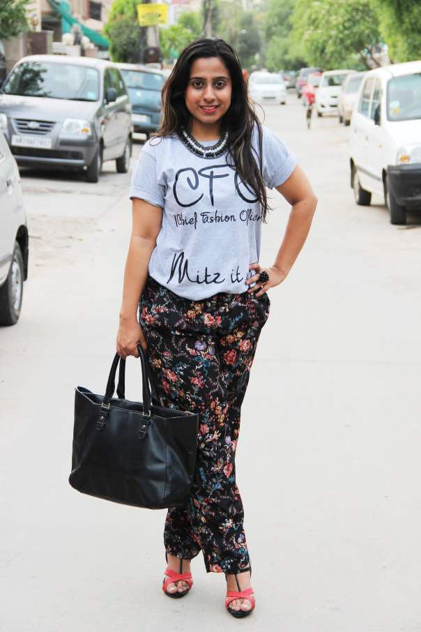 Chief Fashion Officer Tee with Floral Trousers | mitzitup.com